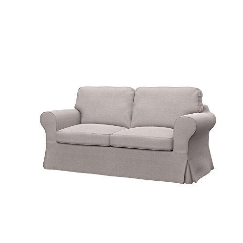Soferia - IKEA EKTORP Funda para sofá de 2 plazas, Elegance Beige