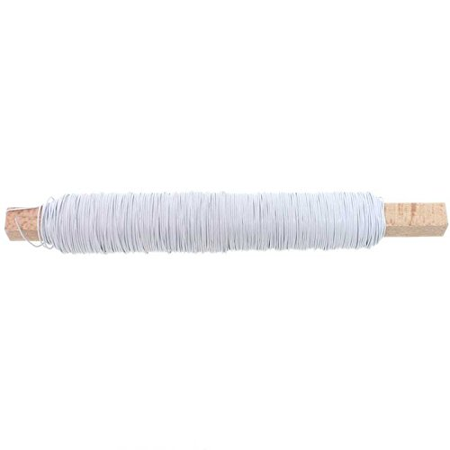 100g Deko Lackdraht 0,5mm Bindedraht Basteldraht Wickeldraht Draht Dekodraht, Farbe:weiß