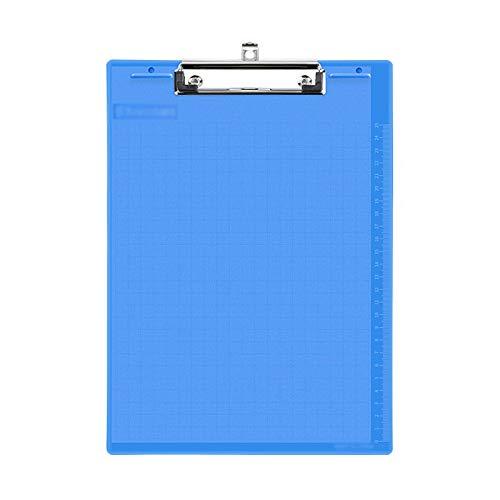 Carpetas para archivo Portapapeles PP de 3 Pack con carpeta de archivo de papel A4 de agujero colgante retráctil con regla de medición en el borde del tablero de escritura Organizador de archivos