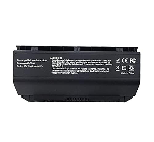 A42-G750 Laptop Batterie Ersatz für ASUS ROG G750JH-DB71 T4106H G750JHA G750JM-DS71 G750JS-RS71 DS71 TS71 T4064H T4069H G750JW-DB71 G750JW-NH71 G750JX-DB71 G750JX-RB71 TB71 G750JZ-XS72(15V 88wh)