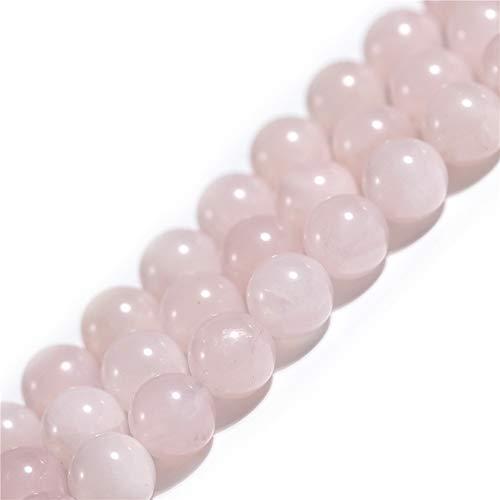 Natürlicher rosafarbener Rosenquarz-Kristall, Edelstein, Halbedelstein, rund, 12 mm, lose Perlen für Schmuckherstellung, Armband, Halskette, Handwerk, 38,1 cm