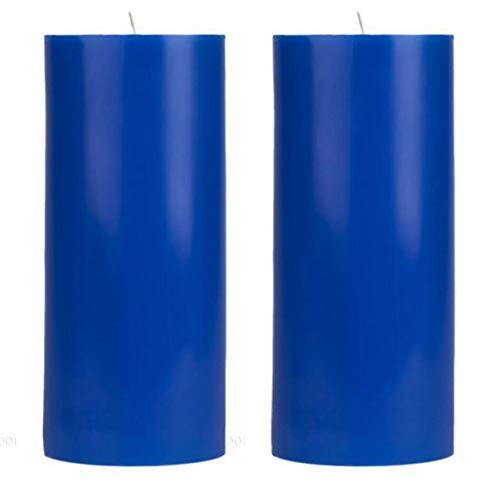 Blue Pillar Candles - Scented shopping Unscented Thick Set inch 2-3x6 Ranking TOP20 of