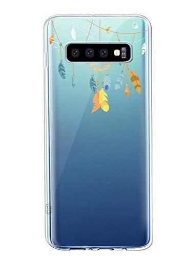 Oihxse L'étui de Est Compatible avec Samsung Galaxy J8 2018 Attrape-rêves à La Mode et Magnifique Cristal Transparent Bel étui de TPU en Silicone Souple Résistant Aux Chocs et Aux Rayures
