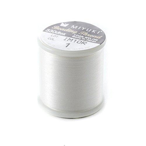 Fais-le toi-stessa Bobina di 50 metri filo speciale Miyuki Beading nylon bianco n. 1