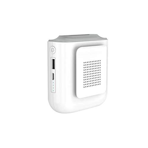 AoFeiKeDM Llevar ventilador banco de energía de gran capacidad al aire libre colgante cintura cuello mini ventilador