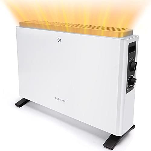 Aigostar Rylee - stufa elettrica con 3 impostazioni di calore regolabili, Termoconvettore...