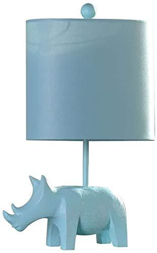 XFXDBT Lámpara de mesita de noche Forme la lámpara de escritorio de la habitación de los niños pequeños Lámpara de mesa de elefante simple de la lámpara de noche de la lámpara de noche de la resina mo