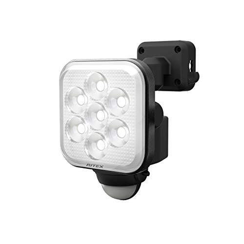 ムサシ(MUSASHI) センサーライト ブラック 本体サイズ: 幅 9.5 × 奥行 12.5 ×高さ 14.6 cm 11W×1灯フリーアーム式LEDセンサーライト LED-AC1011