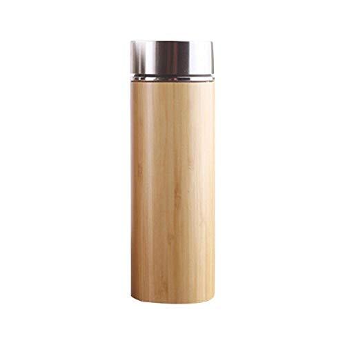 Natuurlijke bamboe thermosbeker Roestvrijstalen fles Thermosflessen Thermosflessen 12 uur theekop