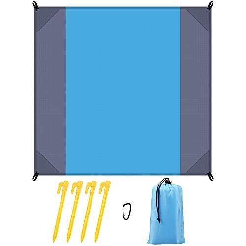 Wandern Zubehör Picknickdecke 200x210cm, Wasserdicht Picknickdecke Isoliert, Tragbare Strandmatte für den Außenbereich XXL Stranddecke