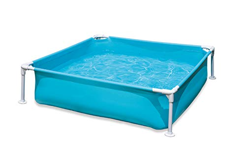TFACR Kiddie Pool, 122x122cm Blue Kids Swimming Pool Summer Water Fun Bañera para niños Baby Pool Learning Water Toy para la Playa, Piscina, jardín, Patio Trasero, Verano