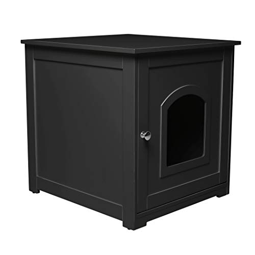 zoovilla Kitty Litter Loo – Hidden Litter Box Furniture, Black