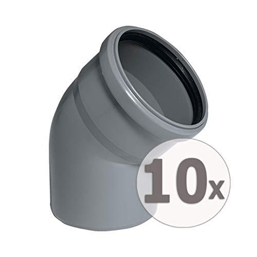 Preisvergleich Produktbild Upmann HT-Bogen 87 Grad DN 40,  10 Stück