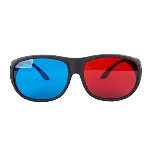 Uayasily Rot-blau-3d-brille Cyan Anaglyphen Einfache Art-3d-brille Stereo Movie Game-extra Upgrade-Stil Für Männer Frauen