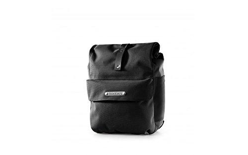 Brooks Norfolk Front Travel Fahrradtasche mit Rolle Top, Unisex, schwarz/schwarz