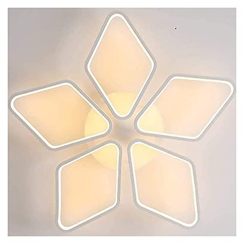 CMMT Plafón LED luz cálida Dormitorio Peque?o luz de Estudio Moderna lámpara de Aluminio y Silicona 66 W iluminación