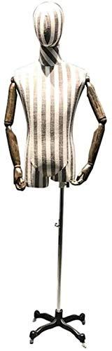 Maniquíes de costura Busto del maniquí de Modelos Masculinos, Modelos de Ropa Racks, Escaparate maniquíes Juego Masculino, Pantalones for la Ropa exhibición de la joyería maniquí sastres Adjustable