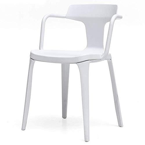 WSDSX Stuhl Modernes Design Esszimmerstühle Rückenlehnen Design Wohnzimmer Sessel Umweltfreundliches Material Für Office Lounge X stabile Struktur Lagergewicht 130 kg (Farbe: Braun)