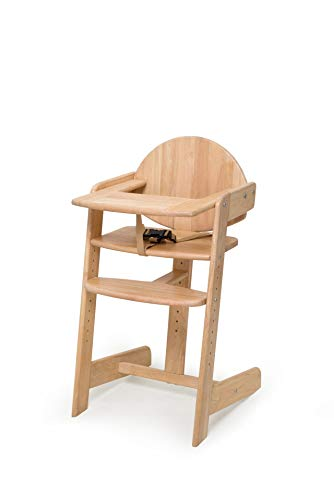 Geuther mitwachsender Hochstuhl Filou Up, Kinderhochstuhl, Sitz- & Fußbrett verstellbar, mit Ess- & Spielbrett, 3-Punkt-Sicherheitsgurt, Massivholz