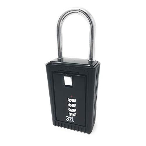 Caja de almacenamiento de llaves para instalar en el picaporte / Caja de Seguridad para instalar en cercas LB-20 - Combinación de clave de 4 dígitos - Para el hogar, trabajo, oficina