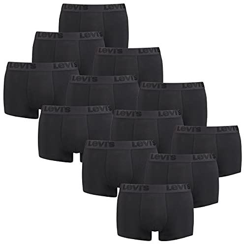 12er Pack Levis Men Premium Boxer Brief Boxershorts Herren Unterhose Pant Unterwäsche, Farbe:Black, Bekleidungsgröße:XL