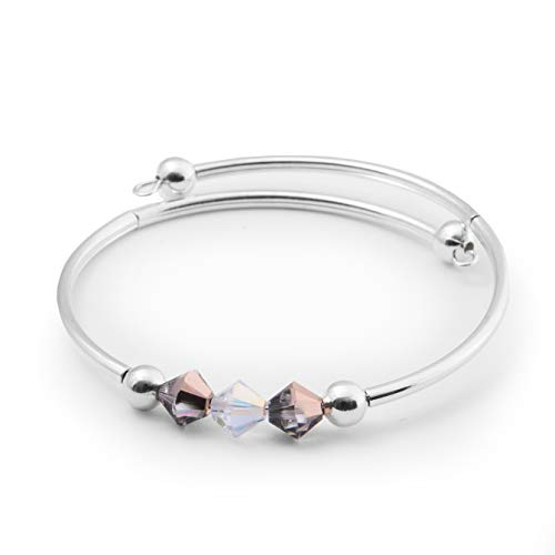 Swarovski Crystal Bracelet/Bangle – Grey and Black