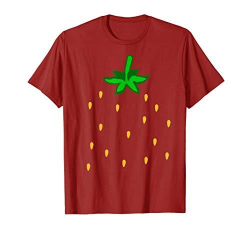 Fresa Disfraz Dulce Verano Fruta Halloween Grupo Disfraz Camiseta