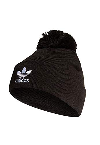 adidas Adicolor Bobble Knit Beanie, Black, OSFM