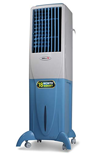 iBELL MAJORNEW Air Cooler 35-Litre 3 Speed Inverter Compatible, Low Power Consumption, Cools with Water - White, Light Blue