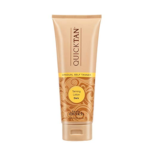 Body Drench Quick Tan Gradual Tanning/Bronzing Lotion - Dark, 8 Fl Oz