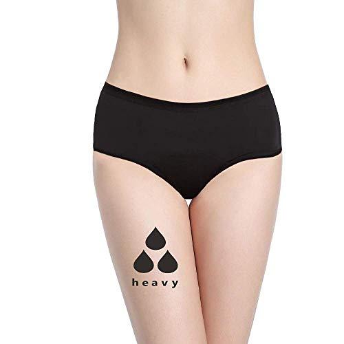 NoBlood Perioden Unterwäsche = 2-3 Tampons - Waschbar - Baumwolle - Ökologisch - Menstruation - Unterwäsche für die Periode - Periodenslips - Absorbierend - Mädchen Damen - XXS / 4XL (Ultra, L)