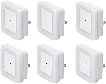 6-Pack Amazon Basics LED Plug-in Night Light with Dusk to Dawn Sensor