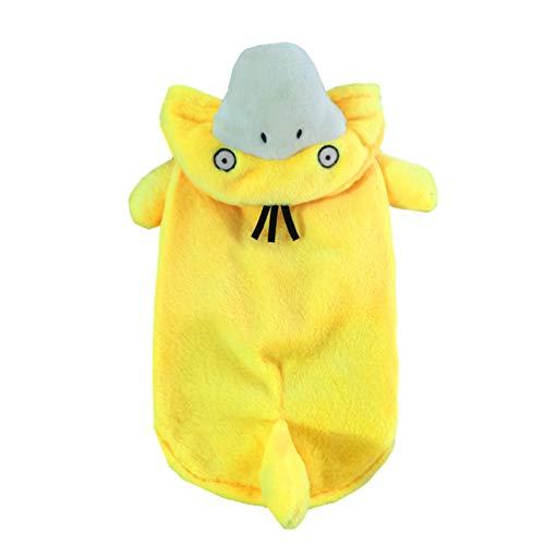 Xinwcang Haustier Kostüm für Hunde Halloween Ente Psyduck Hundekostüm Kleidung für Weihnachten Kleid Karneval Hundemantel Gelb L