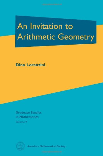 Compare Textbook Prices for An Invitation to Arithmetic Geometry Graduate Studies in Mathematics, Vol 9 GSM/9  ISBN 9780821802670 by Dino Lorenzini