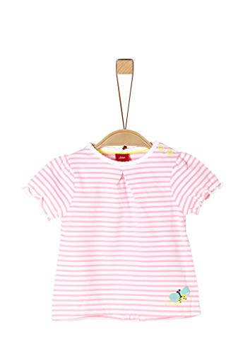 s.Oliver Junior Baby-Mädchen 405.10.004.12.130.2037948 T-Shirt, 41G6 Light pink Stripes, 62