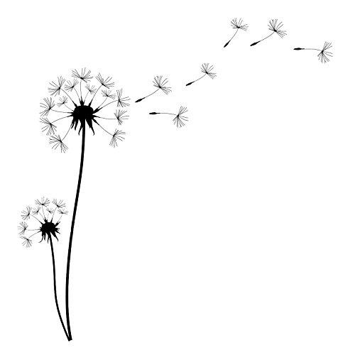 EmmiJules Wandtattoo Pusteblume DELUXE (150cm x 150cm) - Made in Germany - verschiedene Farben und Größen - Wohnzimmer Schlafzimmer Löwenzahn Wandsticker Wandaufkleber Kinderzimmer
