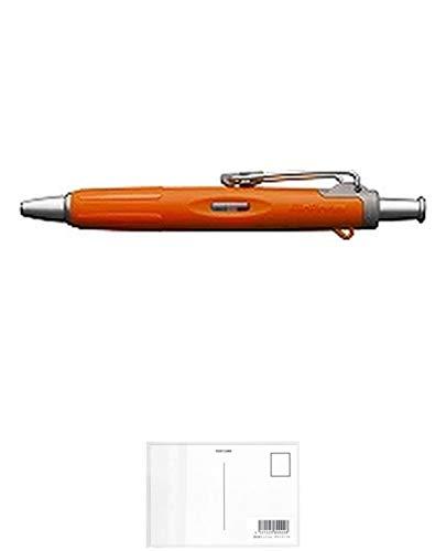 トンボ鉛筆 ボールペンエアプレス54オレンジ BC-AP54 2個セット + 画材屋ドットコム ポストカードA