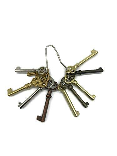 Skeleton Key Set Reproduction for Antique Furniture - Cabinet Doors, Grandfather Clocks, Dresser Drawers | KY-10S