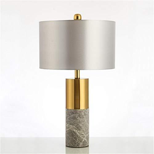 XWZH lámparas de mesa Lámpara de mesa moderna de mármol de mármol LED de escritorio Luz de lujo decorativo creativo para el dormitorio para el hogar Sala de estar (Color : Button Switch)