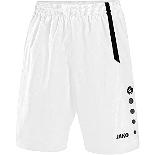 JAKO Turin Shorts de randonnée Homme, Blanc/Noir, M