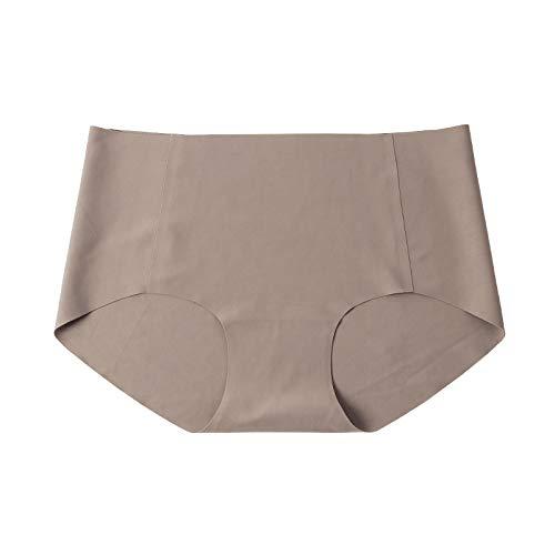 Cwang Sujetador Tipo Camiseta sin Aros con Relleno Ligero Suave para Mujer,marrón,S