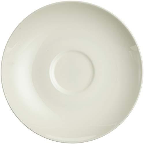 Villeroy & Boch Royal de Café/Thé Porcelaine de qualité de qualité, 15 cm 6 x Soucoupe Blanc, 15 x 15 x 8 cm, 6 unités de