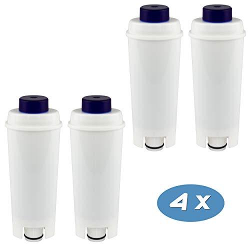 4-pack Wasserfilter kompatibel mit DeLonghi DLS C002 Kaffeemaschinen Filterpatronen, DLSC002, SER 3017, Magnifica, Caffe, Cappuccino, ECAM, ESAM, ETAM, BCO, EC