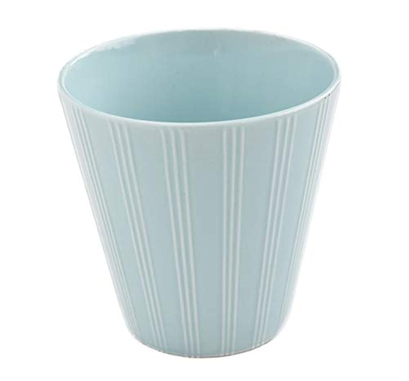 冗長トークにはまって【フラワーポット?花瓶?カトラリー入れ】フランスの香り 水色のフラワーポット