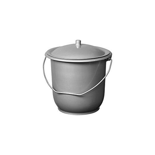 ALUMINIUM ET PLASTIQUES - Seau hygienique modele enfant Ø 23 mm 5 litres avec couvercle avec Anses en acier galvanisé et Couvercle, Pot de chambre gris argent