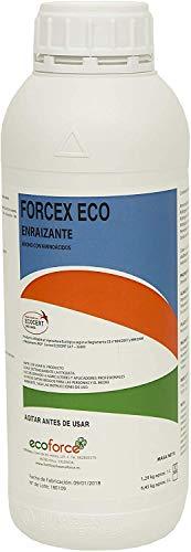 CULTIVERS Enraizante liquido Ecológico de 1 l, con hormonas naturales para esquejes, árboles, plantas y transplantes. Mejorador radicular elaborado con aminoácidos. Forcex Eco.