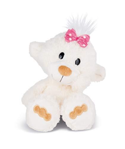 NICI 43344 Kuscheltier kleine Bären-Schwester, 25 cm, weiß