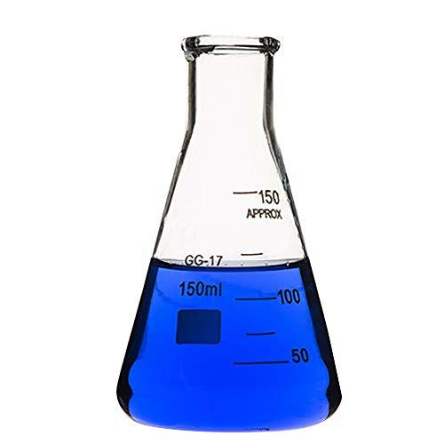 LFDHSF Mess-Erlenmeyerkolben Aus Wiederverwendbaren Borosilikatglas-Filterkolben Für Laborzwecke