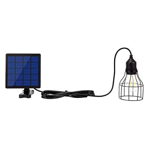 KX & VV Tuin Solar Light Retro Lamp Solar Lamp Solar Lamp Zonne-energie hanglamp met 16ft snoer Solar Lamp opknoping voor buiten Cafe verlichting, afmetingen: 15 * 15 * 5 cm (zwart)