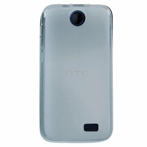 Phonix Gel Protection Plus Hülle mit Bildschirmschutzfolie für HTC Desire 310 transparent/weiß